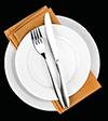 Icona ristorante piatto menu
